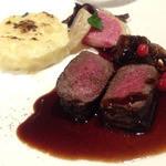 レストラン 香松 - 北海道名ハンター阿部さん直送 エゾ鹿ロース肉のステーキ
