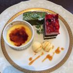 珈琲香房 楽風 - ケーキ3種盛り
