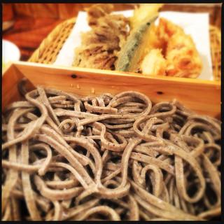 粗挽き蕎麦 トキ - 五種盛り天もり蕎麦