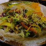 鶏っく - 十品目の新鮮野菜サラダ ~ゆずしょうゆドレッシング~