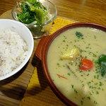 カフェ ニコ - グリーンカレー1000円