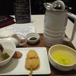 MARUFUJI CAFE - うれしの茶とデザートセット