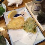 34369957 - この日のお勧め、ワカサギの天ぷら。でかいし激ウマ。