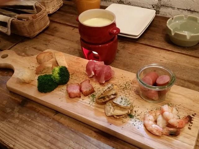 さんるー食堂 - チーズフォンデュ