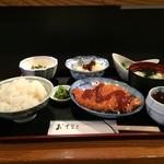 吉膳 - 本日の昼定食全景、これで750円です