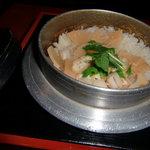 釜めし多ぬき - 季節の釜めし(タケノコと貝柱)