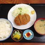 天平食堂 - 牛メンチかつ定食 ¥680
