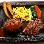 レア館 - 料理写真:両方食べたい人にヾ(*´∀)♪♪♪お店オススメのハンバーグ&ステーキ!!