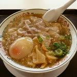 丸醤屋 - 醤油+チャーシュー、トロ玉(全部入り)