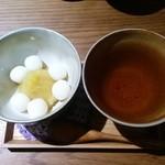 カフェ クマコ - 栗餡と白玉