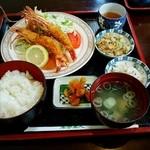 来夢来人 - エビフライ定食 1,300円