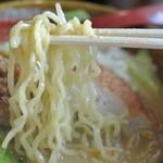 麺場唐崎商店 - 麺場唐崎商店・北海草味噌 麺近影(2014.10)