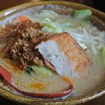 麺場唐崎商店 - 麺場唐崎商店・九州味噌野菜ラーメン¥750(2014.10)