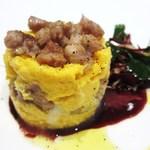 RISTORANTE YAGI - 鶏せせり ストラッキーノ 麿宝卵