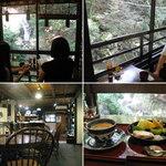 滝カフェ 器楽々 - 滝カフェ器楽々の店内 2014.7.20撮影