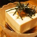 瓢亭 - うにのせ豆腐