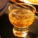 瓢亭 - お初そば(梅酒)