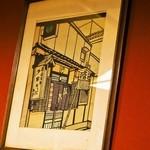 瓢亭 - お店の版画