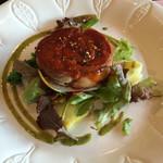 34415084 - 【ランチ】柔らかく煮込んだ豚バラ肉の黒胡椒風味焼き                       (Course A・1,550円)