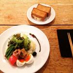 LENTO - ニース風サラダとライ麦パンのハムチーズ