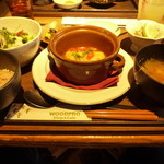 ウッドプロ - 里芋とポロ葱の和風スープ