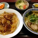 34424259 - ラーメンに味覚飯が付いたランチ 700円(税込) (2015.01現在)