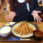 34424389 - エビフライ定食DX 1100円 (2015.01現在)