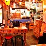 定食居酒屋 廻天寿司 まぐろ人 - まぐろ人 @新砂 店内 厨房方向
