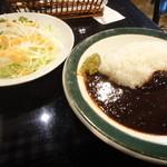 月乃ひかり亭 - カレー+ミニサラダ