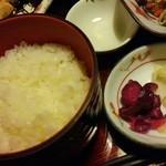 わさびの花 - ご飯と漬物