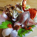 塩湯 - 海鮮丼2層目