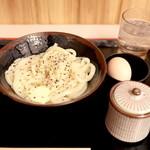 手打十段 うどんバカ一代 - 釜バターうどん 小 (490円) '15 1月上旬