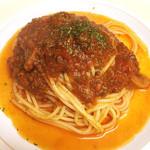 十三くま - ミートソーススパゲッティ