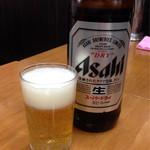三福 - ビール大瓶 ¥550