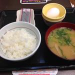 なか卯 - 20150123 こだわり卵朝定食 豚汁変更