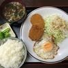 瀧野川 - 料理写真:コロッケ定食580円