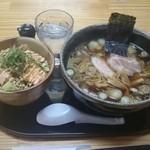 34447201 - ミニお魚の明太マヨネーズ丼+醤油らーめんのセット880円内