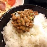 食堂 じみち - シロメシに納豆♪