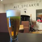 ALT SPEAKER - 「この場所は『昭和の歌声喫茶』のように、    お酒を飲みながらミュージシャンのたまごを    応援する場所でありたい」と、店主!