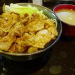 牛や - ちょい辛豚丼・味噌汁付 500円