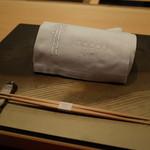 銀座 kappou ukai - テーブル・セッティング 2015.1.1x