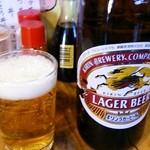 居酒屋 葉牡丹 - 瓶ビール 500円→476円+税