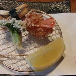 京料理 花むら - 海老 タラの芽 穴子