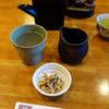 十一屋 - 料理写真:粋蕎・そば湯割り(徳利)とお通し