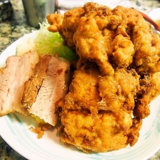 らーめん コーさん - 料理写真:からあげ定食 + 焼豚2枚