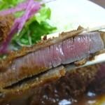 洋食の朝日 - ビフカツも、 分厚い ヽ(゚◇゚ )ノ