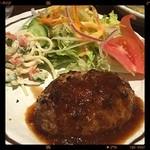 にんにく屋嘉六 - 料理写真:手作りハンバーグステーキ