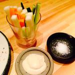 浅葱  - 野菜スティック アンチョビマヨネーズ