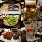 34478111 - 自家製浅漬け/拘りのちゃんぽん/本日の甘味/ビール/チューハイ