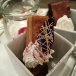 34478659 - マロンのスティックケーキ、シフォンケーキ、パンナコッタ(選べるカップドルチェ3種)